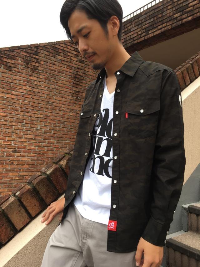 """迷彩ウエスタンシャツ"""""""