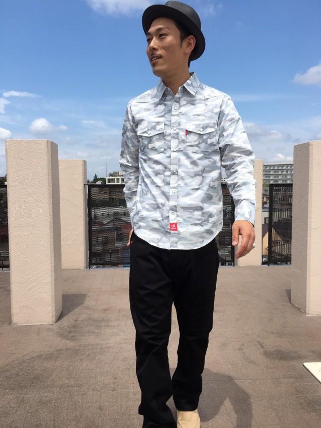 迷彩ウエスタンシャツ